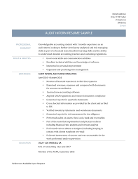 audit intern resume samples template and job description audit intern resume samples