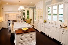 White Kitchen Dark Floors Kitchens White Cabinets Dark Floors Gorgeous Home Design