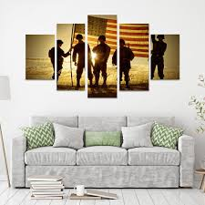 patriotic military 5 piece canvas wall art on patriotic canvas wall art with patriotic military 5 piece canvas wall art vigor and whim