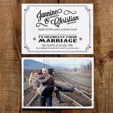 Vintage Photo Postcard Wedding Invitation By Feel Good Wedding