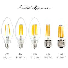 aliexpresscom sunmeg 3pcs b11 chandelier filament led bulbs e26 e12 110v 2w 4w 6w 2700k 60w equivalent dimmable led incandescent candle lights from led