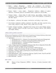 People Soft Consultant Resume Resume of KrishnaKumar Vattappilly PeopleSoft Consultant 11