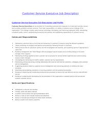 Customer Service Job Description Resume Free Resume Example And
