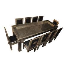 dining table furniture bazaar. moroccan furniture bazaar - silver arabesque design dining table and matching chairs sets