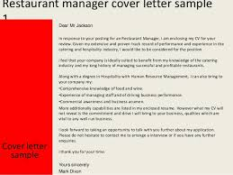 Sample Resume For Restaurant Restaurant Manager Job Description