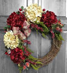 Holiday Wreath, Christmas Wreath, Hydrangea Wreath, Christmas Gift, Winter  Wreath, Front