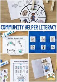 Community Helpers Chart Pdf Community Helpers Preschool Literacy Activities