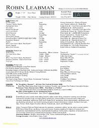 Free Acting Resume Template Unique Acting Resume Templates Free
