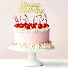 Send Beautiful Cake With Happy Birthday Topper Online Free
