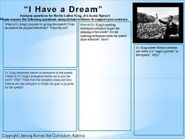 i have a dream speech analysis questions luther king jr s ldquoi have a dreamrdquo speech after they have the text ask them to address the following activity questions support analysis of what the