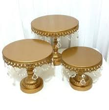 cake stand gold set wedding decoration gold iron cake iron cake holder with crystal iron