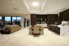 diverse shades are used to delineate space in the open floor plan design bagnato