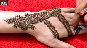 Dubai Style Mehndi Design Dubai Mehndi Design For Hand Easy Way To Create Dubai Style Rose Pattern Mehendi