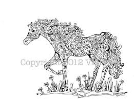Printable Coloring Pages horse coloring pages to print for free : Beautiful Horse Coloring Pages For Adults 13 For Your Free ...