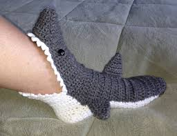 Free Crochet Shark Slippers Pattern