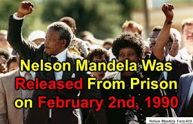 「1990 Nelson Mandela released」の画像検索結果