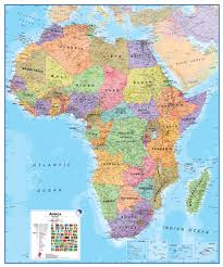 africa map and satellite image