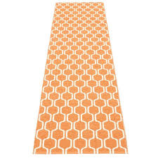 orange runner rug ants pale and blue