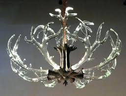 faux antler chandelier white image of with crystals uk faux antler chandelier white mini deer earrings silver uk