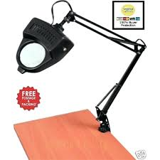 swing arm magnifying lamp clamp on swing arm lighted magnifying lamp hobby work desk table lamp swing arm magnifying lamp