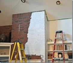 white painted brick fireplaces painted brick fireplaces out there painted white brick fireplace with tv