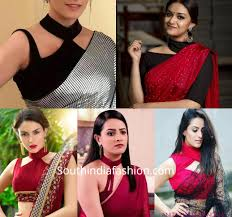 Statement Blouse Designs Make A Style Statement With Choker Style Saree Blouse