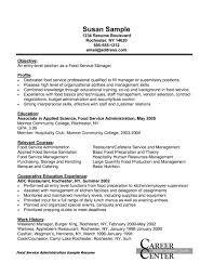 Sample Resume For Food Service Manager Restaurant Manager Resume