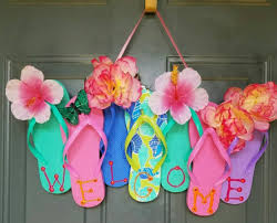 flip flop summer wreath easy and fun summer crafts diy projects