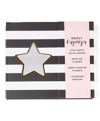 Stripe Star Weekly Organizer Zulily