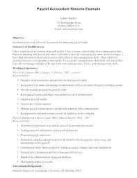 Sample Payroll Resume Here Are Payroll Accountant Resume Accounting