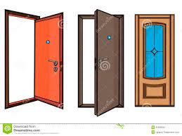 open and closed door clipart. Closed Doors Clipart And Open Door