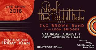 Citi Field Concert Seating Chart Zac Brown Band B 105 Welcomes Zac Brown Band To Great American Ball Park