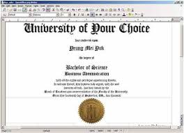Free Printable College Diploma Fake Diploma Fake Degrees Or