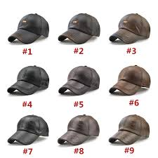 new pu leather dad cap high quality leather baseball cap luxury design leisure hat curved popular trucker hat adjustable sport cap brand hat baseball caps