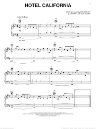 Contains printable guitar tab plus an interactive , downloadable. Henley Hotel California Sheet Music For Voice Piano Or Guitar