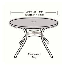 protector 4 6 seater circular table top cover 120cm ref w1168