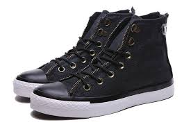 converse zipper high tops. black converse double zipper chuck taylor all star with leather buckle high tops canvas sneakers,converse red shoe laces,outlet seller 2017 a