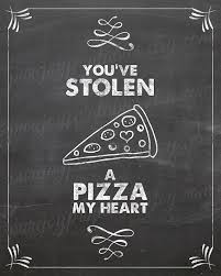 Pizza Quotes Stunning Kitchen Pun Pizza My Heart Pizza Quote Pizza By PureJoyPrintables