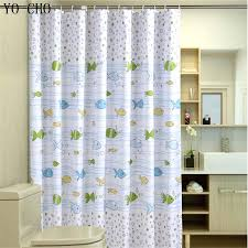 bubble fish polyester sea shower curtain waterproof fabric anime bathroom with hooks rings in curtains from