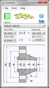 Flange Od Id Pcd Chart Flanges Calculator V1 Calqlata