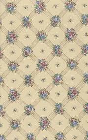 Lattice Floral Vintage Behang Beige Blauw Rose Groen Huisje Uk Etsy