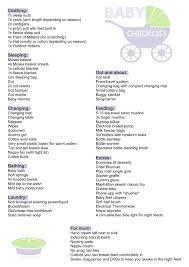 Baby Checklist Newborn Printable Can Roomofalice