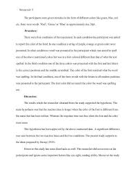example research paper research paper the modern language  stroop effect research paper example apa style