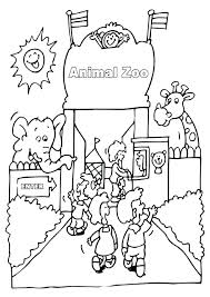 Zoo Coloring Sheets Free Animals Colouring Sheet Forget To Check
