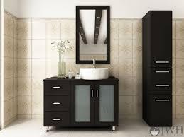 Single Vessel Sink Bathroom Vanity 39 Lune Single Bathroom Vanity Espresso Bathgemscom