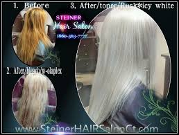 Rusk Toner Chart Blonde Hair Toned With Rusk Icy White On Pre Lightened Hair