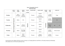 Daily Time Table Year 2 Daily Timetable St Silas C Of E Primary School