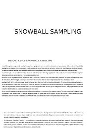 Snowball sampling can happen in a number of ways, but generally it is when a group of people recommends potential participants for a study, or directly recruits them for the study. Presentation On Snowball Sampling Sampling Statistics Science Mathematics