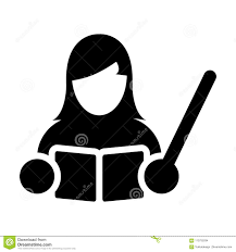 Symbol For Teacher Teacher Icon Vector Female Person Profile Avatar With A Book In