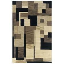 black and brown rug craft cf taupe black modern area rug com for and brown rugs